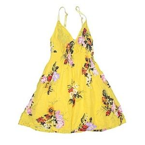 Floral Yellow Summer Dress